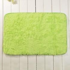 May_zz Permen Warna Lembut Anti-Selip Karpet Flokati Shaggy Rugliving Kamar Tidur Lantai Mat 40