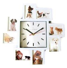 Meridient Foto Frame Wall Clock Modern Minimalis - Putih