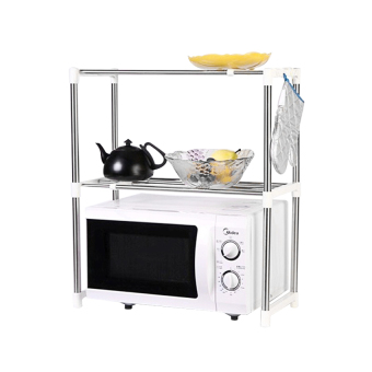 microwave oven stainless steel shelf storage rack – rak penyimpanan