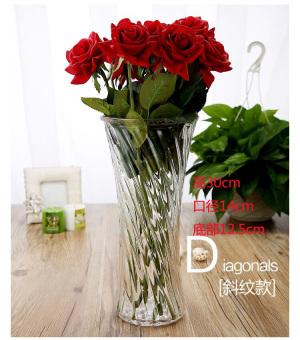 Modern yang sederhana hidroponik transparan gelas lily vas gelas vas