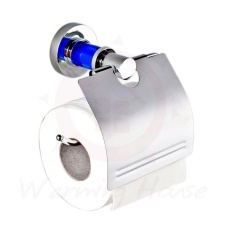 Mushroom Zinc alloy Blue crystal Base hot selling Bathroom Paper Tissue Toilet Roll Holder - With