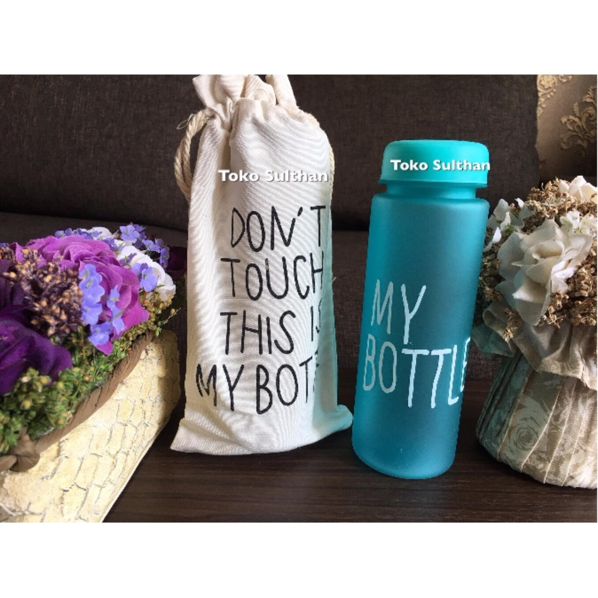 Jual Beli My Bottle New Doff Botol Warna Warni 500ml Biru Plus Tas