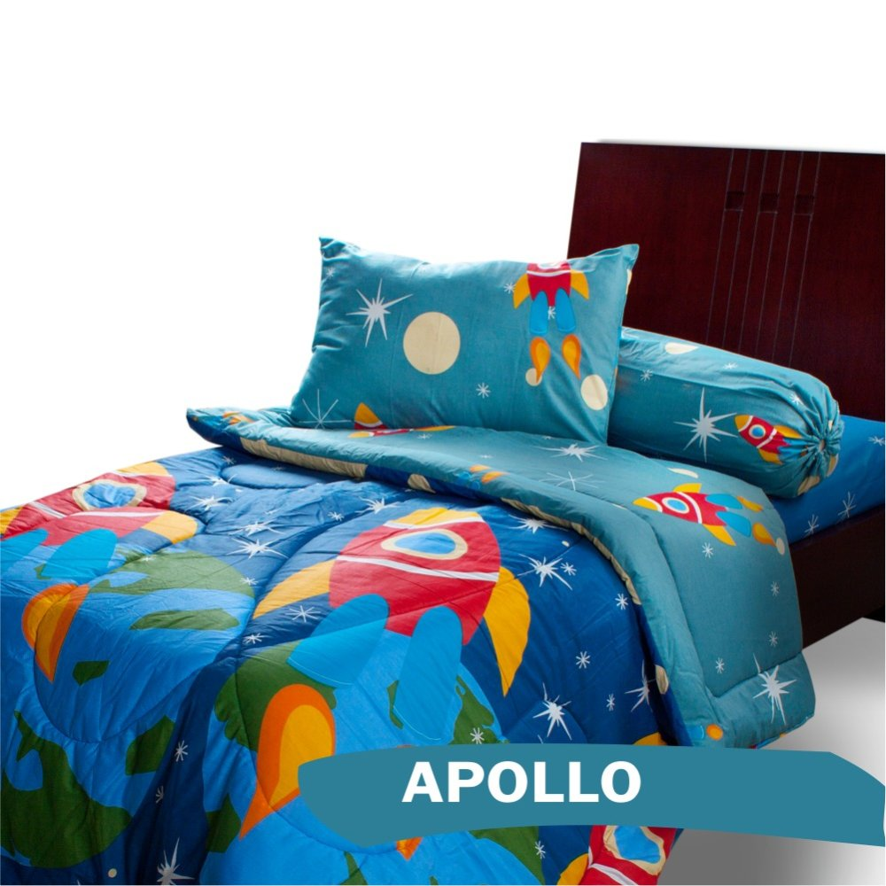 Bed cover my love anak - My Love Single Bedcover Apollo 120x200 Full Fitted Lazada Indonesia