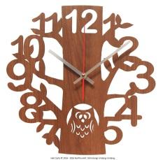 Nail Your Art Jam Dinding Unik Artistik Owl - Artistic Unique Wall Clock