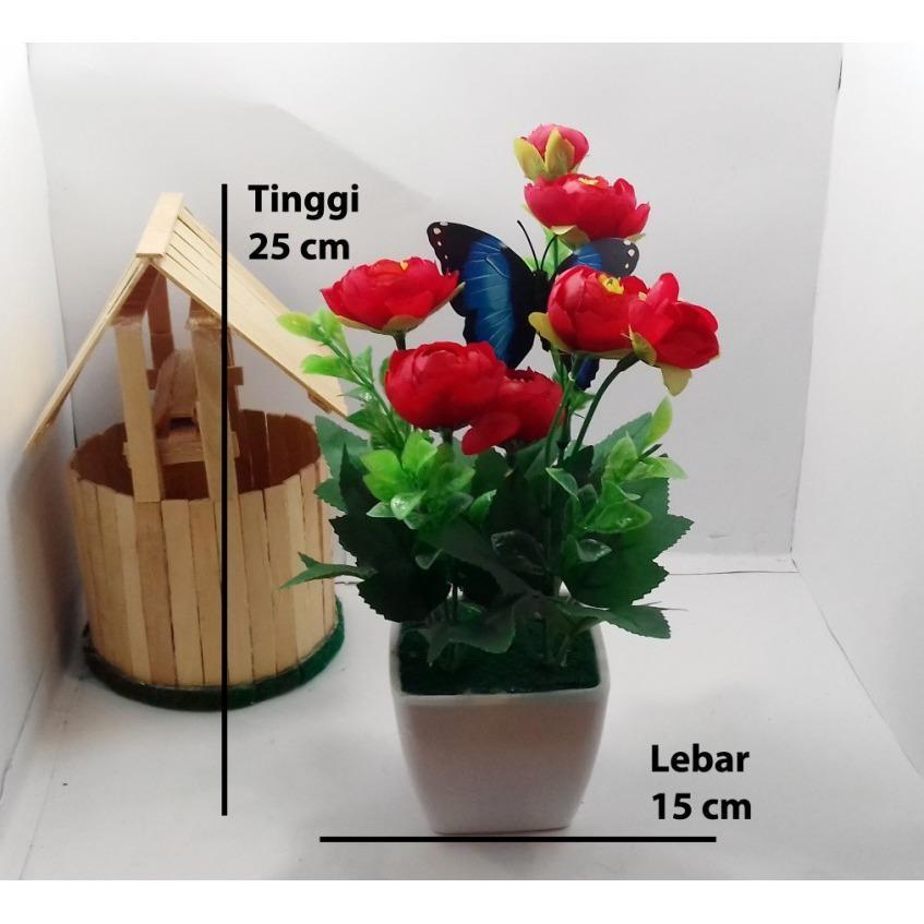 Naindo Bunga Plastik Hiasan Ruang Tamu Dan Kantor