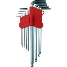 Nankai Kunci L Bulat Panjang 9pc - Long Hex Key Ballpoint Set Perkakas Tool