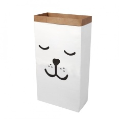 New Cute Kraft Kertas Anak-anak Room Toy Storage Organizer Bag (Tidur Beruang)