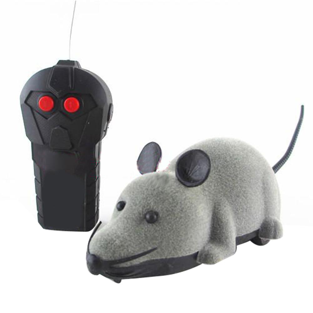 New remote mengendalikan tikus mainan untuk anjing kucing pet kebaruan hadiah lucu Kelabu .