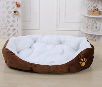 ... niceEshop lucu bekas cakar kucing nyaman hewan peliharaan anjing anak anjing sarang bulu tambahan bantalan lunak