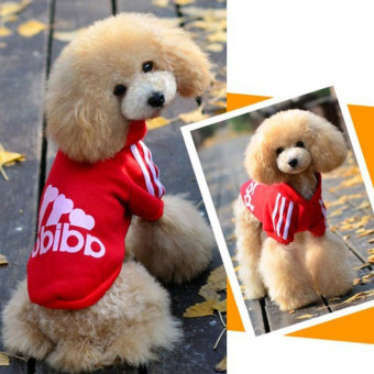 niceEshop Warm Cotton Pet Dog Cat Puppy T Shirt Hoodies Coat Clothes Apparel (Red,L) - 4
