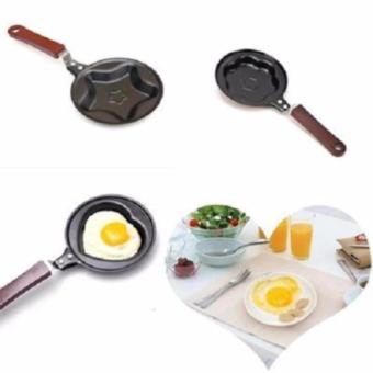 Nonstick Mini Frying Pan Karakter Stroberi - Hitam - 3 .