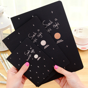 ... Notebook Diary Black Paper Notepad Sketch Graffiti Notebook for Drawing Painting 56K intl 2