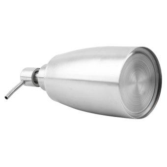 Oh Stainless Steel pompa dispenser sabun cair lotion pembersihtangan botol Perak - 3