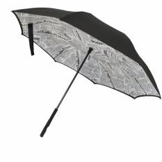 Payung terbalik / Kazbrella motif white Newspaper (02)