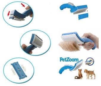 Pet Mate Sisir Binatang Peliharaan Petzoom Grooming Brush