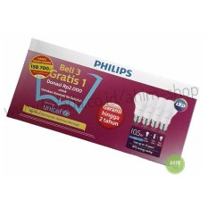 PHILIPS Lampu LED Bulb 10.5W UNICEF Beli 3 Gratis 1 - Cool Daylight (Putih)