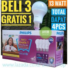 PHILIPS Lampu LED Bulb 13W UNICEF Beli 3 Gratis 1 - Cool Daylight (Putih)