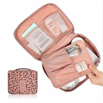 Pockettrip Clear Cosmetic Makeup Bag Toiletry Travel Kit OrganizerLeopard - intl