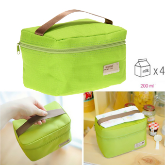 Portable Insulated Thermal Cooler Bento Lunch Box Tote Picnic(Gleen)