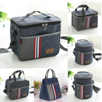 Portable Insulated Thermal Cooler Lunch Box Bento Tote Storage Bag Case Picnic - intl