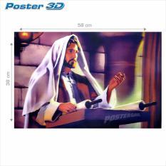 Poster 3D Yesus Kristus 3D0184 38 x 58 cm .