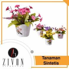 [PROMO] Dekorasi Tanaman Sintetis Palsu Bulat Synthetic Fake Flower Plant YZB6