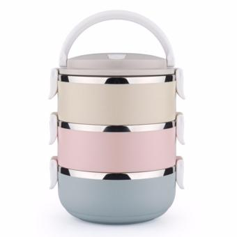 Rantang Makan 3 Susun Stainless Steel/ Lunch Box 3 Layer Stainless Steel - Glossy - 4