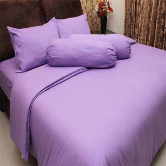 Rosewell Seprei+Bedcover Microtex Polos - Ungu Muda