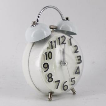 Ruibao Alarm Clock Bulat Jam Weker - putih