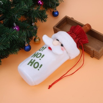 Santa Claus Christmas Decoration Wine Bottle Bag(Red) - intl - 4