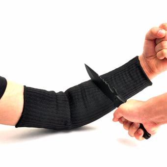 Sarung Lengan Anti Sobek Begal Maling Manset Benda Tajam - Black - 2