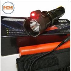 Senter Swat Listrik Setrum + Laser / Senter SWAT LED Serbaguna Laser Merah Lalin