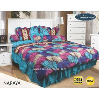 Sprei Rumbai King California motif Naraya