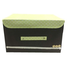 StarHome Rak Kain - Storage Box - Kotak Keranjang Baju Besar - Kotak Pakaian Besar - Box Pakaian Besar Portable - Coklat Tua