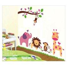 Stiker Dinding Kartun Binatang dan Pohon AY869 Wall sticker kamar anak