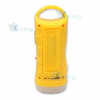 Harga Sunfree Lampu Emergency FQL P82 Light LED 16 SMD + Senter Super LED 1w Rechargeable - Kuning Murah | Dokuprice.com