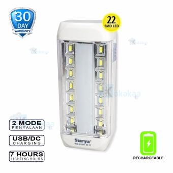 Surya Lampu Emergency SQL L2207 Light LED 22 SMDRechargeable