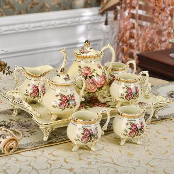 Teh sore British bergaya Eropa teh teko cangkir