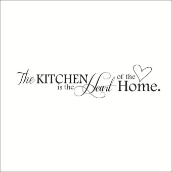 The Kitchen is The Heart of The Home Wall Sticker Letter PatternPVC Removable Home Decoration Stickers - intl - 4