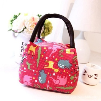 Thermal Insulated Tote Picnic Lunch Cool Bag Cooler Box Handbag Pouch - Red - intl