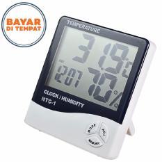 Thermometer Suhu Ruang Digital dengan Hygrometer dan Jam Digital Temperature Humidity Meter Digital