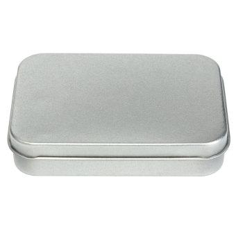 Timah Logam Kecil Silver Jual Case Kotak Penyimpanan Uang KoinPermen Kunci Penyelenggara Untuk