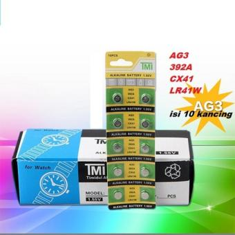 TMI Battery Alkaline Baterai Kancing Batre Lithium AG3 LR41 (1.55V) Untuk Kalkulator,