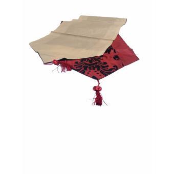 Detail Gambar Tren-D-home Taplak Meja / Runner Flocking 33 cm x 200 cm - Merah Terbaru