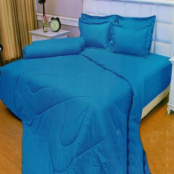Vallery Quincy Sprei King 180x200x30 cm Warna Diva Blue · >>>>