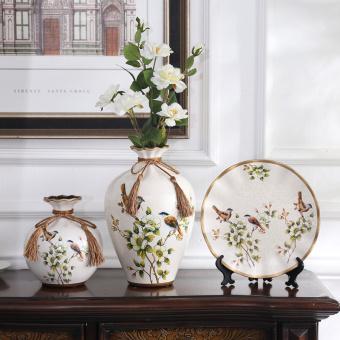 harga Vas Bunga Keramik Pastoral Gaya Eropa Tiga Buah Per Set Lazada.co.id