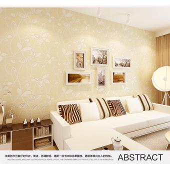 Wallpaper 3D Non Woven Leaf Relief Warm Romantic 53cm x 10m
