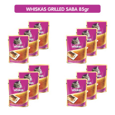 Whiskas Pouch Adult - Grilled Fish/Saba 85 gr (12Pcs)