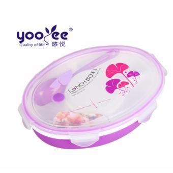 Yooyee Lunch Box 4 Sekat Bento #429 Kotak Bekal Makan OVAL + Tempat Sup