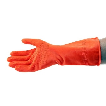 YOUNG YOUNG Latex Gloves IL SARUNG TANGAN 8.5INCH Karet Rubber - Orange - 2